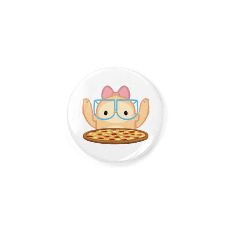 Slothilda & Pizza Accessories Button by SLOTHILDA