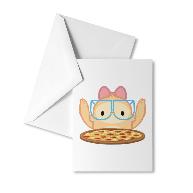 Slothilda & Pizza Accessories Greeting Card by SLOTHILDA