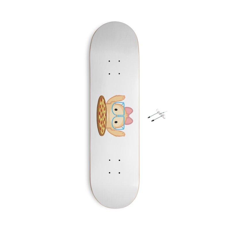 Slothilda & Pizza Accessories Skateboard by SLOTHILDA