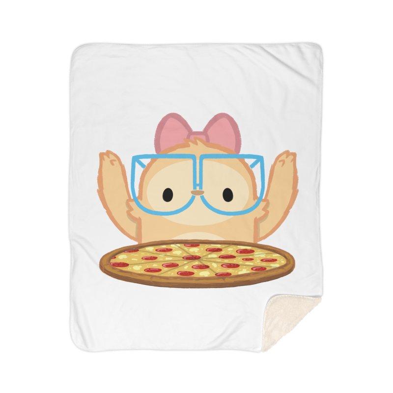 Slothilda & Pizza Home Sherpa Blanket Blanket by SLOTHILDA