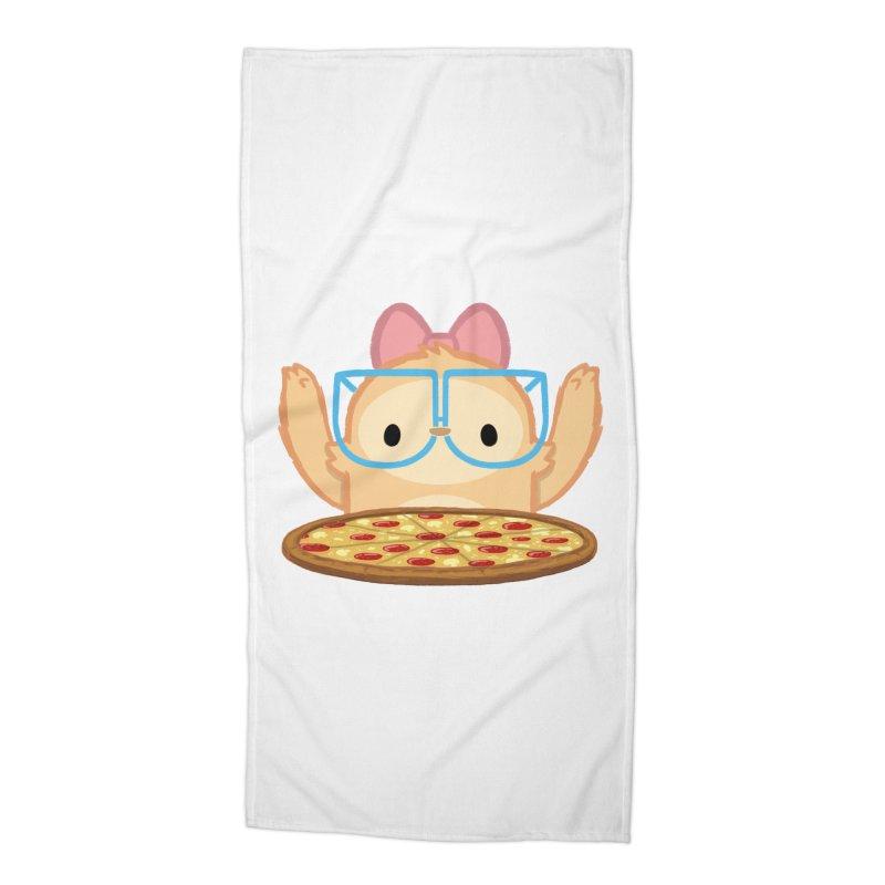 Slothilda & Pizza Accessories Beach Towel by SLOTHILDA