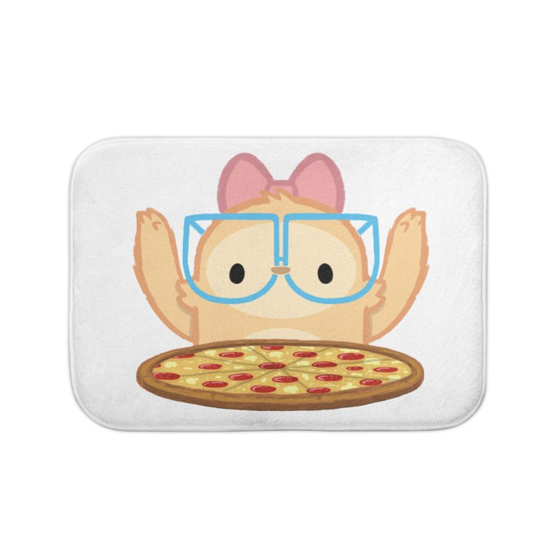 Slothilda & Pizza Home Bath Mat by SLOTHILDA