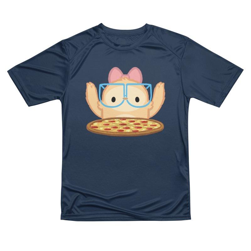 Slothilda & Pizza Men's Performance T-Shirt by SLOTHILDA