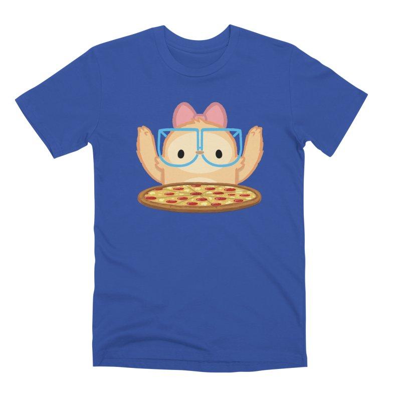 Slothilda & Pizza Men's Premium T-Shirt by SLOTHILDA