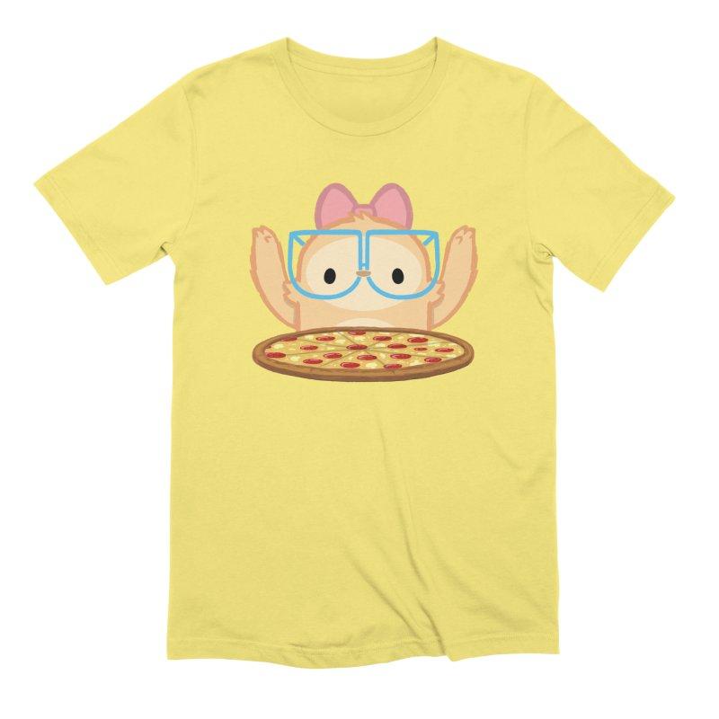 Slothilda & Pizza Men's Extra Soft T-Shirt by SLOTHILDA