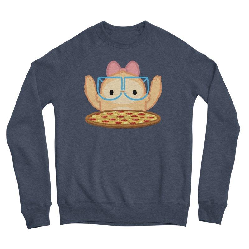 Slothilda & Pizza Men's Sponge Fleece Sweatshirt by SLOTHILDA