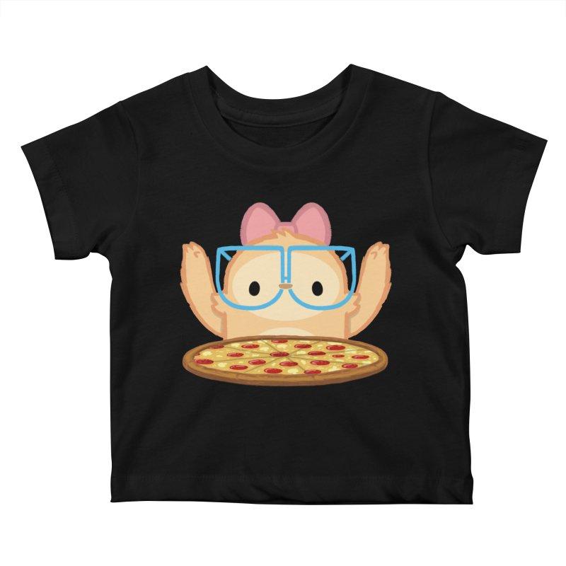 Slothilda & Pizza Kids Baby T-Shirt by SLOTHILDA