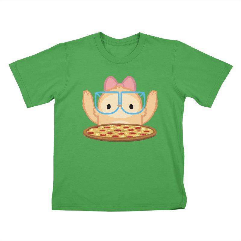 Slothilda & Pizza Kids T-Shirt by SLOTHILDA