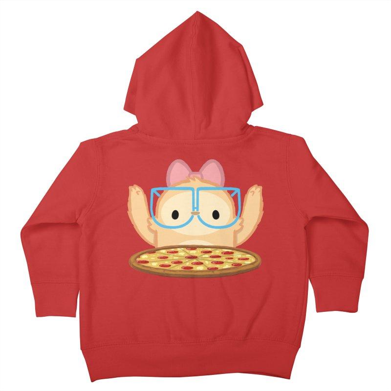 Slothilda & Pizza Kids Toddler Zip-Up Hoody by SLOTHILDA