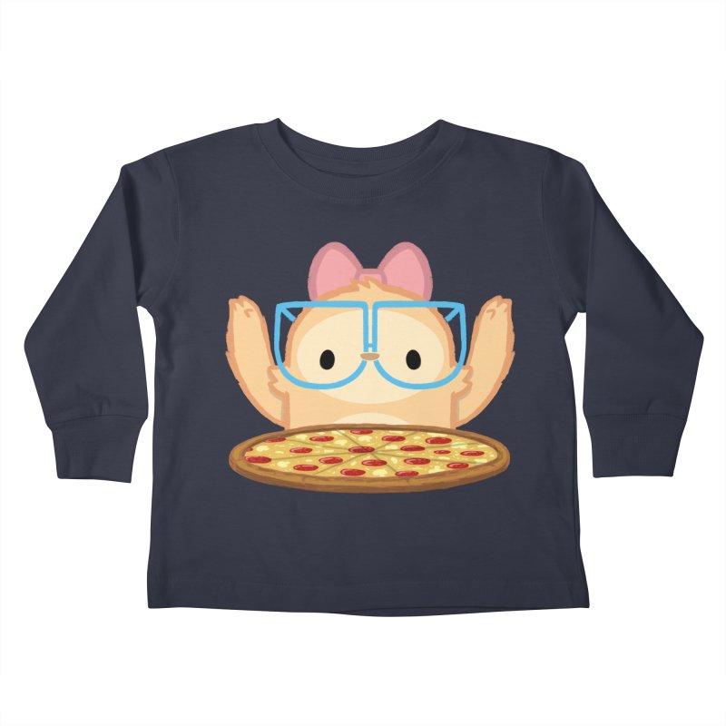 Slothilda & Pizza Kids Toddler Longsleeve T-Shirt by SLOTHILDA