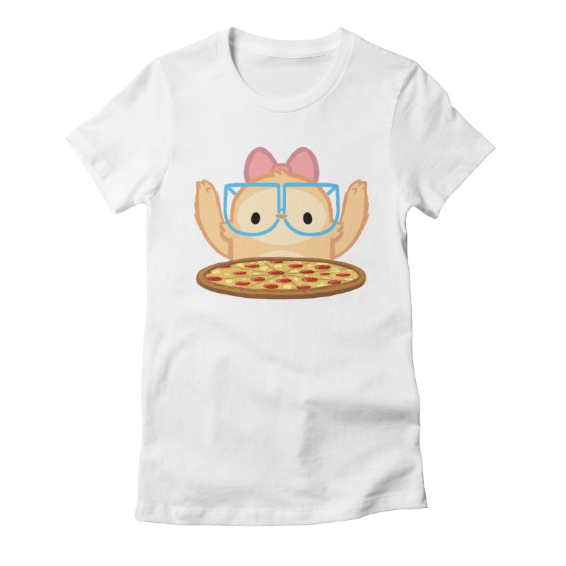 Slothilda & Pizza Women's Fitted T-Shirt by SLOTHILDA