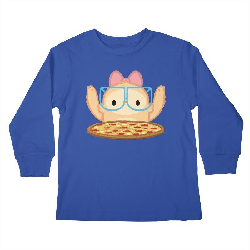 Slothilda & Pizza Kids Longsleeve T-Shirt by SLOTHILDA