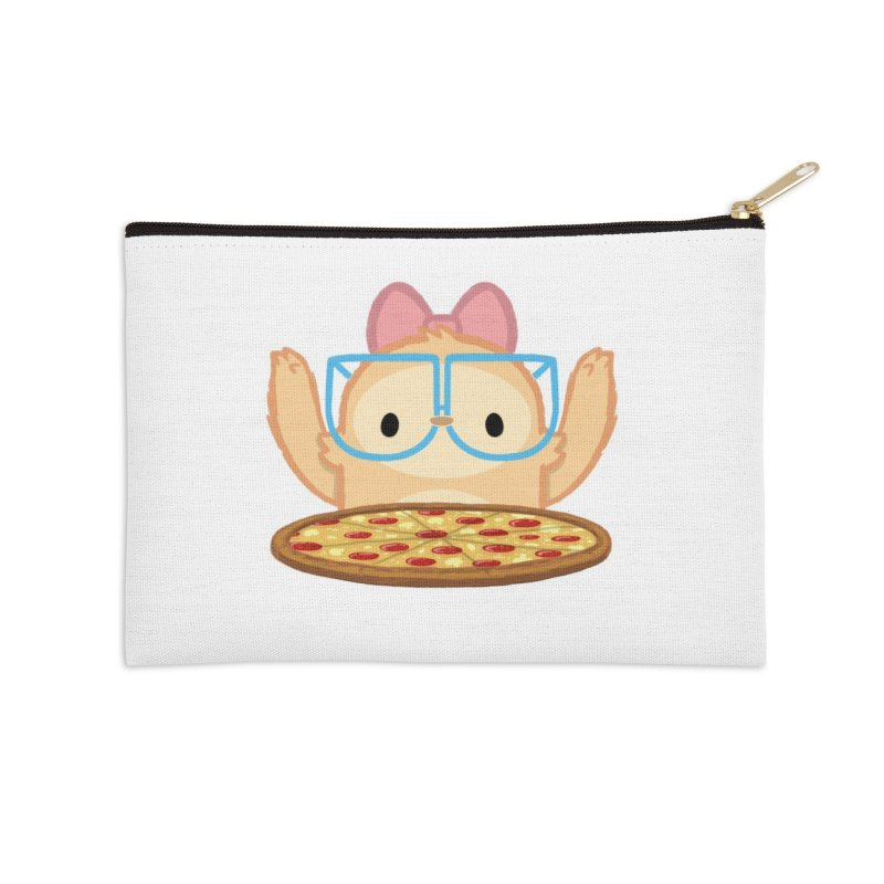 Slothilda & Pizza Accessories Zip Pouch by SLOTHILDA