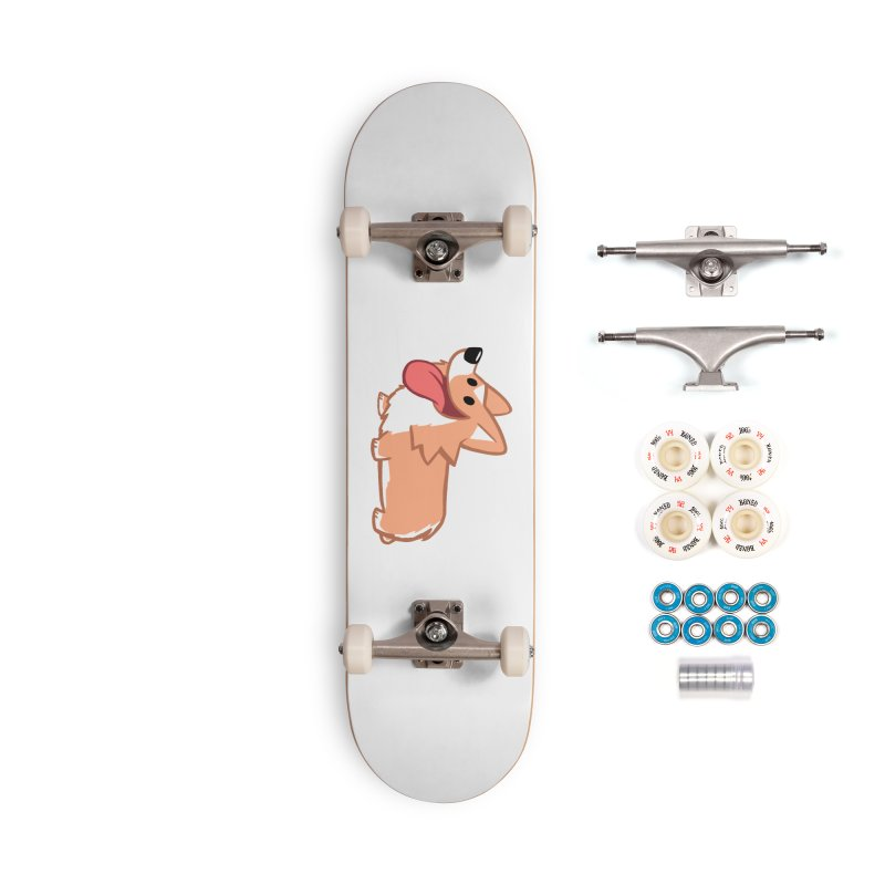 Peanut The Corgi Accessories Complete - Premium Skateboard by SLOTHILDA