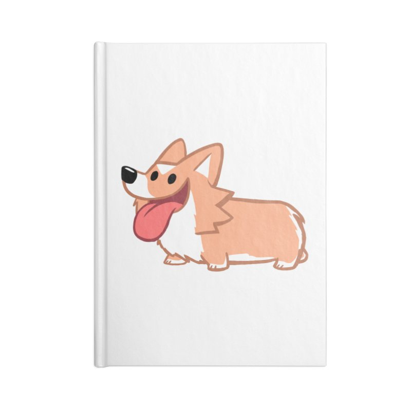 Peanut The Corgi Accessories Lined Journal Notebook by SLOTHILDA