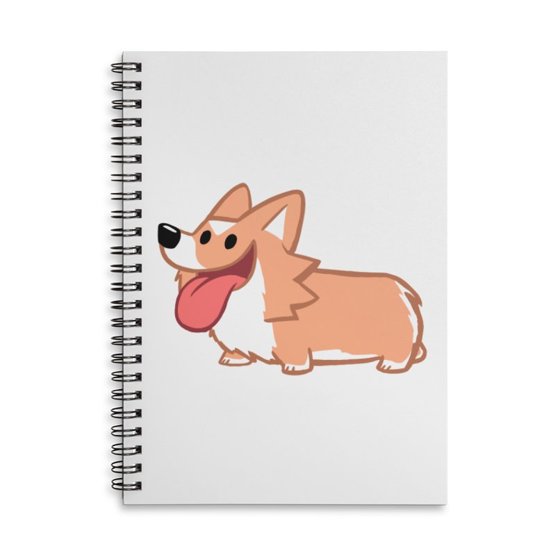 Peanut The Corgi Accessories Lined Spiral Notebook by SLOTHILDA