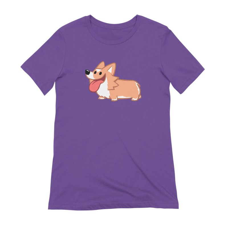 Peanut The Corgi Women's Extra Soft T-Shirt by SLOTHILDA