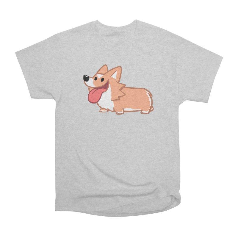 Peanut The Corgi Men's T-Shirt by SLOTHILDA
