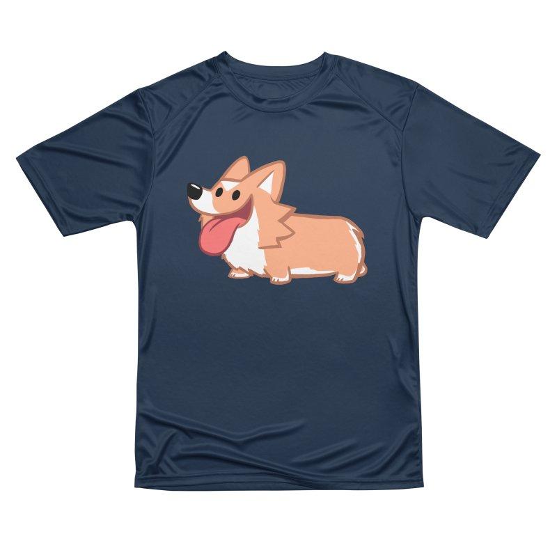 Peanut The Corgi Men's Performance T-Shirt by SLOTHILDA