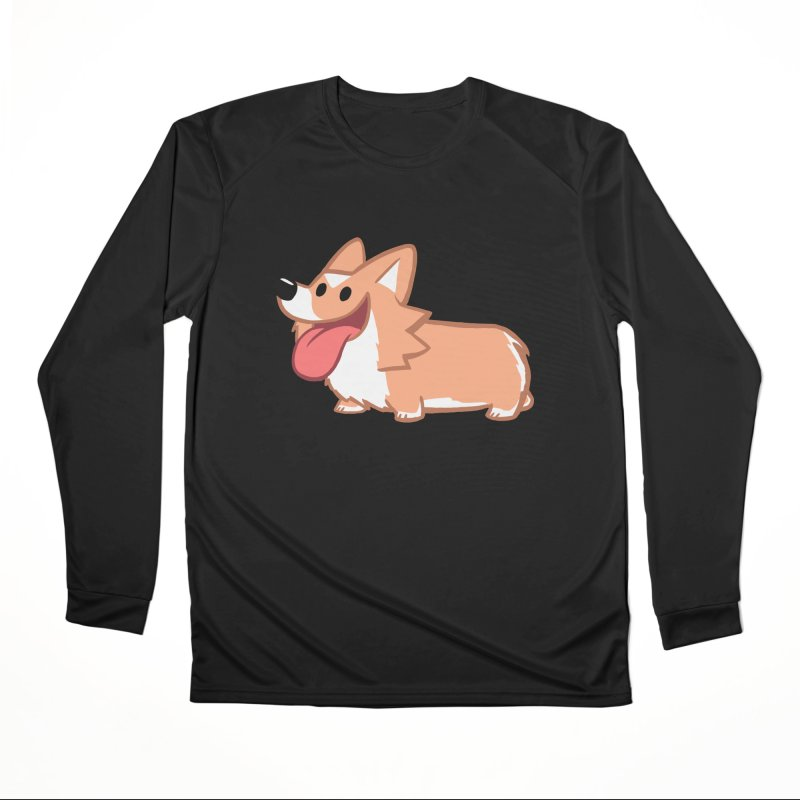Peanut The Corgi Men's Performance Longsleeve T-Shirt by SLOTHILDA