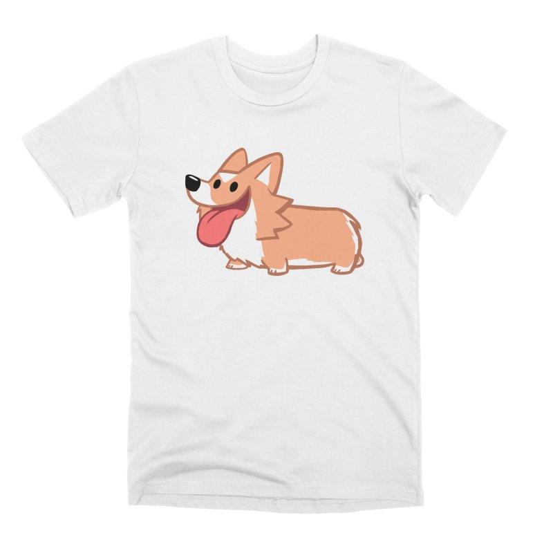 Peanut The Corgi Men's Premium T-Shirt by SLOTHILDA