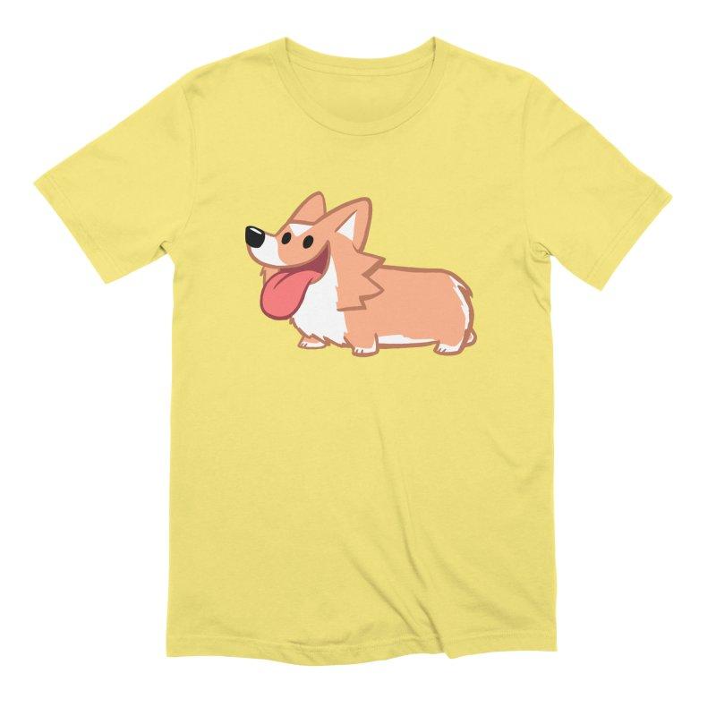 Peanut The Corgi Men's Extra Soft T-Shirt by SLOTHILDA