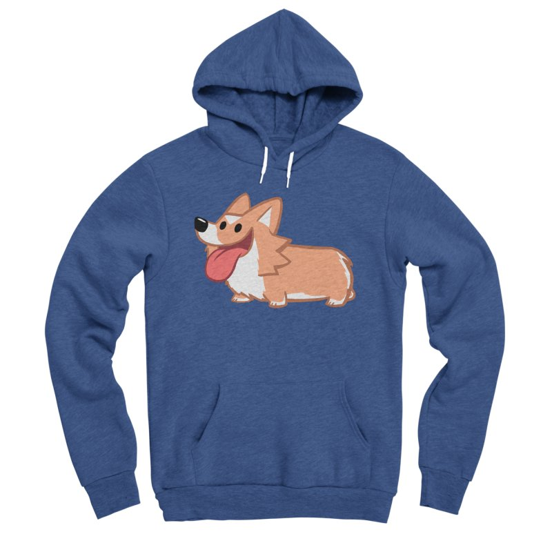 Peanut The Corgi Women's Sponge Fleece Pullover Hoody by SLOTHILDA