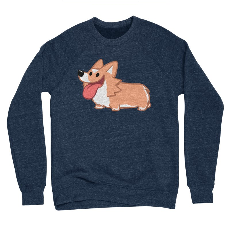 Peanut The Corgi Men's Sponge Fleece Sweatshirt by SLOTHILDA