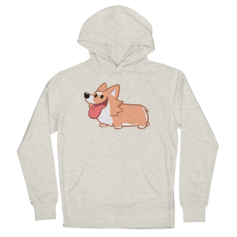 Peanut The Corgi Women's French Terry Pullover Hoody by SLOTHILDA