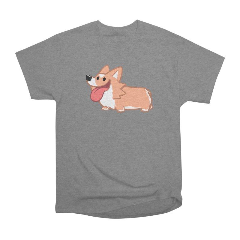 Peanut The Corgi Men's Heavyweight T-Shirt by SLOTHILDA