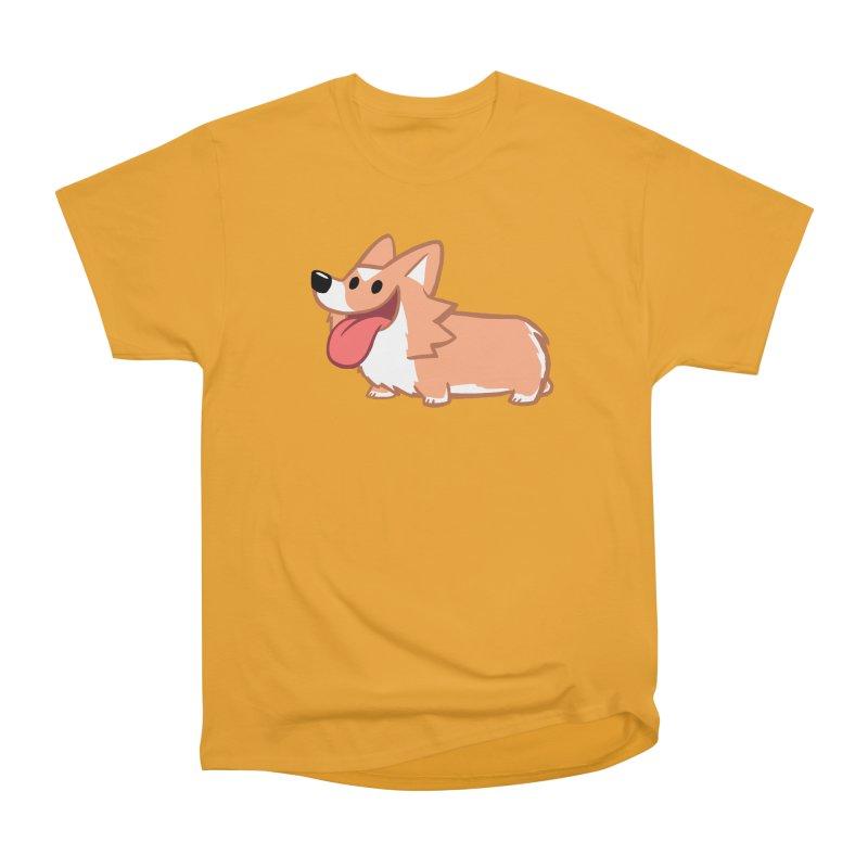 Peanut The Corgi Women's Heavyweight Unisex T-Shirt by SLOTHILDA