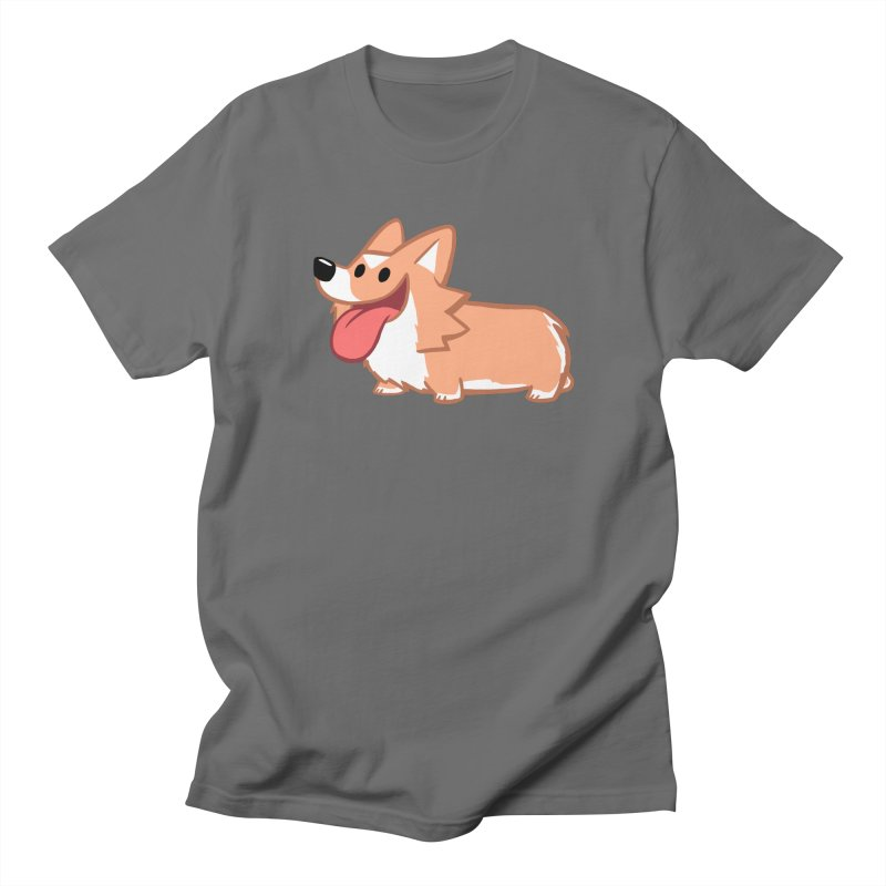Peanut The Corgi in Men's Regular T-Shirt Asphalt by SLOTHILDA