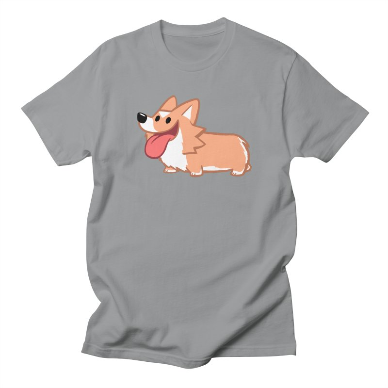 Peanut The Corgi Men's Regular T-Shirt by SLOTHILDA