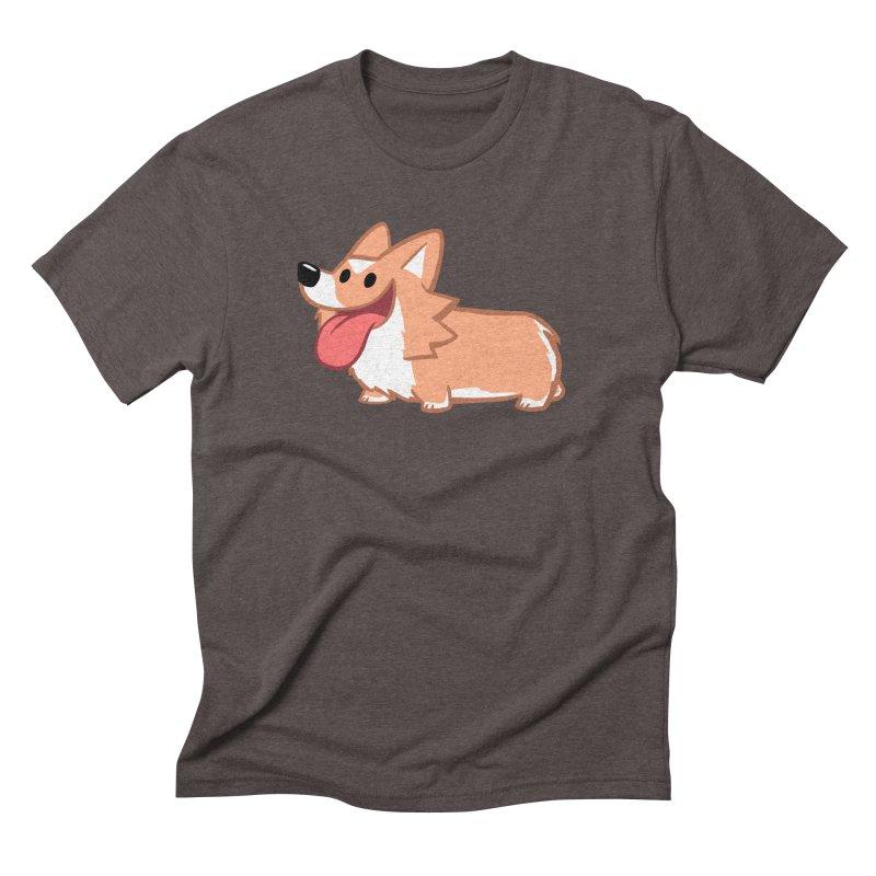 Peanut The Corgi Men's Triblend T-Shirt by SLOTHILDA