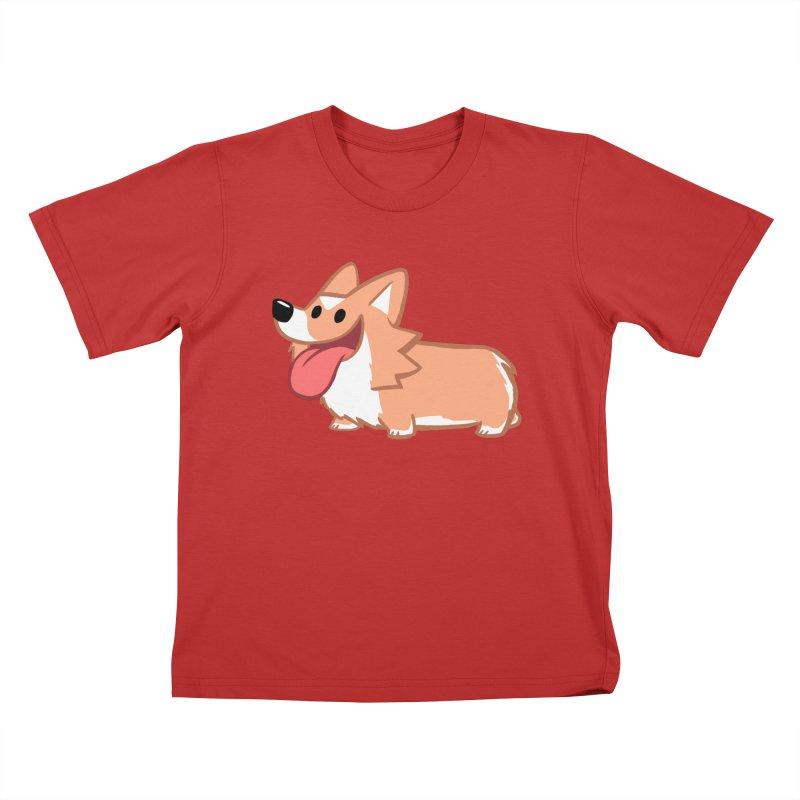 Peanut The Corgi Kids T-Shirt by SLOTHILDA