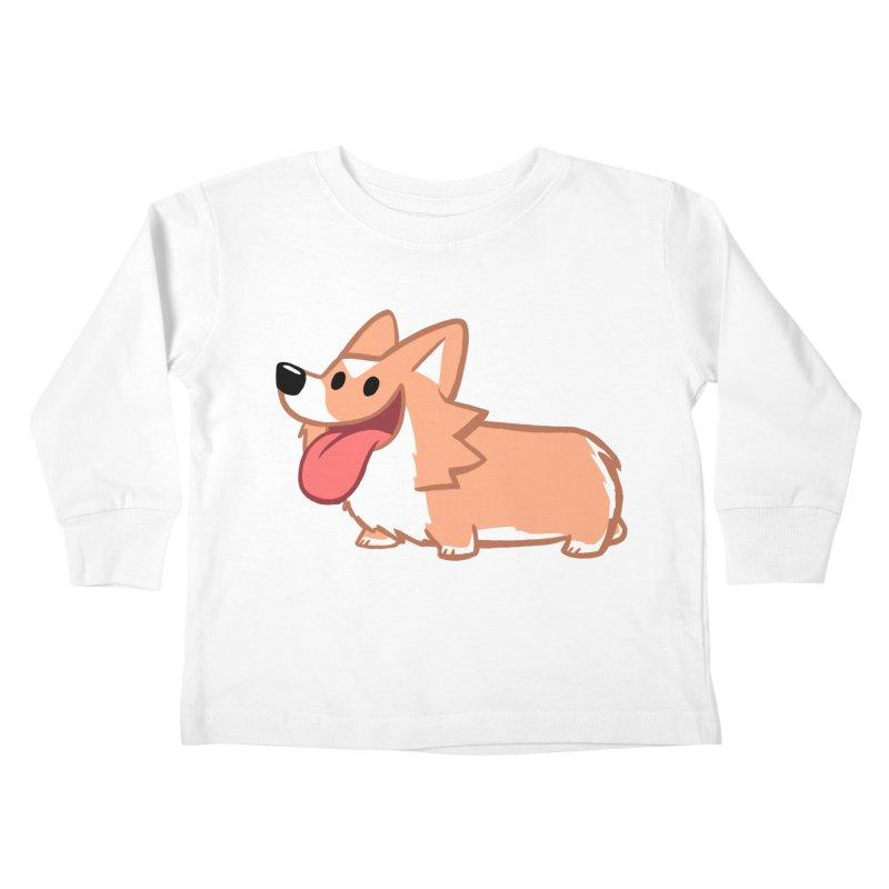 Peanut The Corgi Kids Toddler Longsleeve T-Shirt by SLOTHILDA