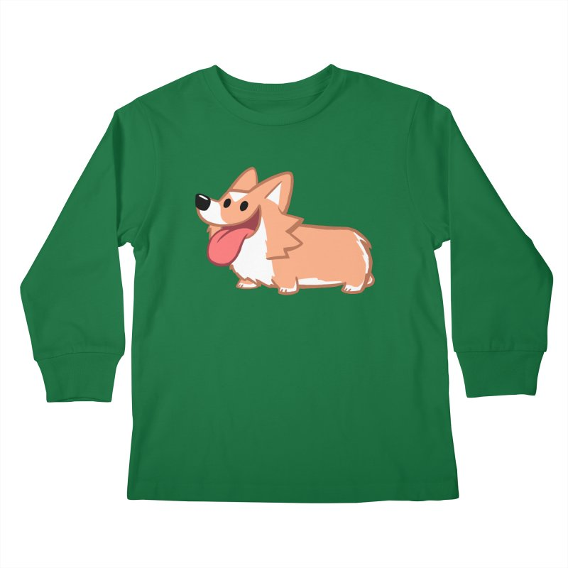 Peanut The Corgi Kids Longsleeve T-Shirt by SLOTHILDA