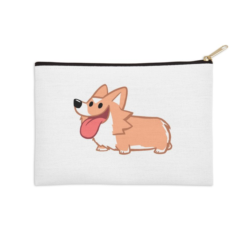 Peanut The Corgi in Zip Pouch by SLOTHILDA