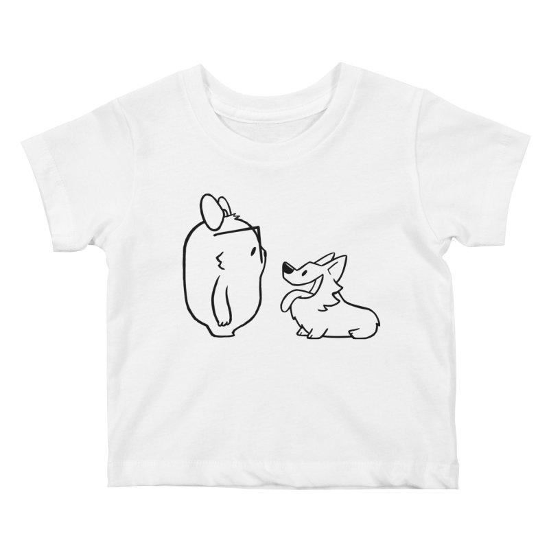 Slothilda & Peanut Outline Kids Baby T-Shirt by SLOTHILDA