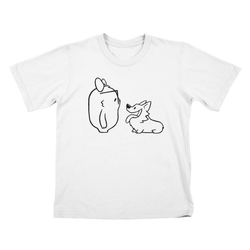 Slothilda & Peanut Outline Kids T-Shirt by SLOTHILDA