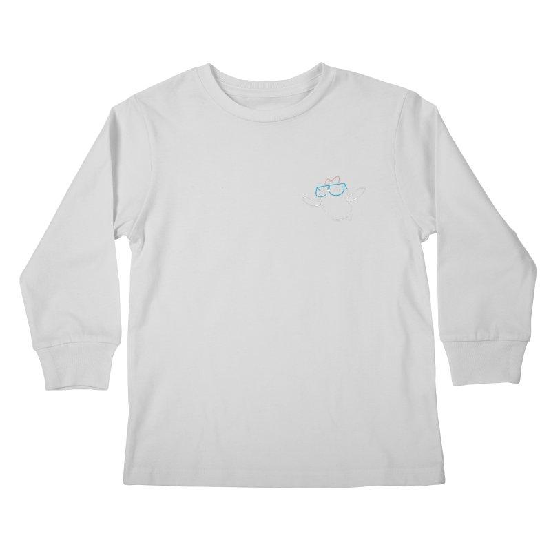 Spirit Animal - Outline Kids Longsleeve T-Shirt by SLOTHILDA