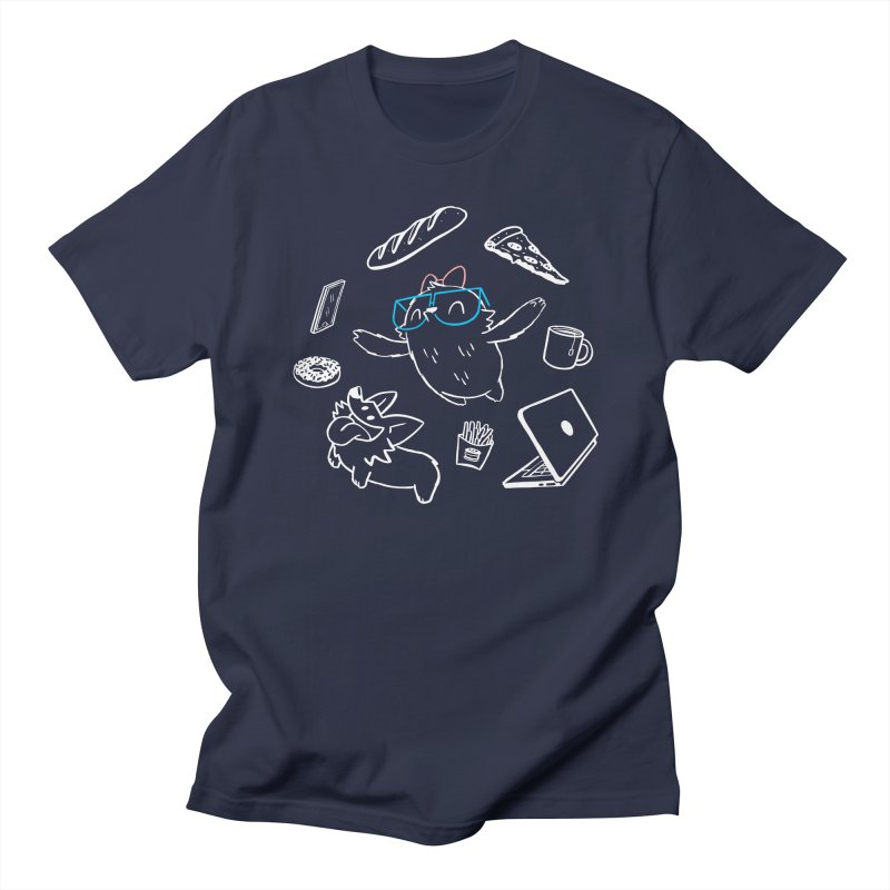 Favorite Things in Women's Regular Unisex T-Shirt Navy by SLOTHILDA
