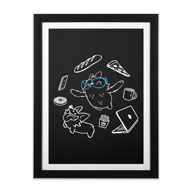 Favorite Things Home Framed Fine Art Print by SLOTHILDA