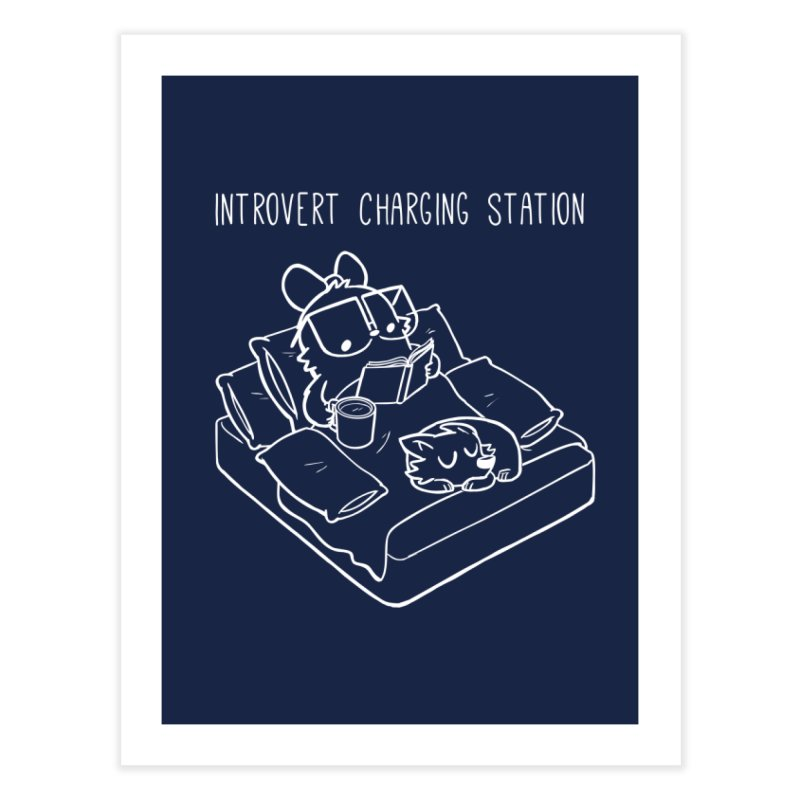 Introvert Charging Station Home Fine Art Print by SLOTHILDA