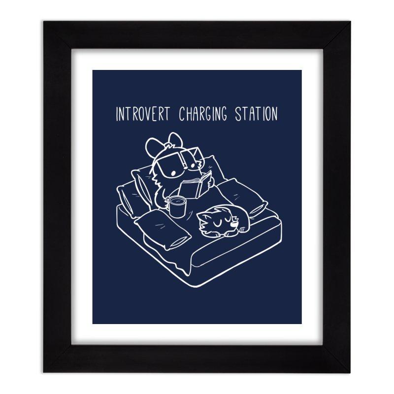 Introvert Charging Station Home Framed Fine Art Print by SLOTHILDA
