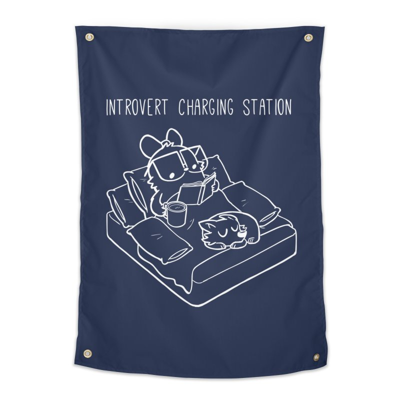 Introvert Charging Station Home Tapestry by SLOTHILDA