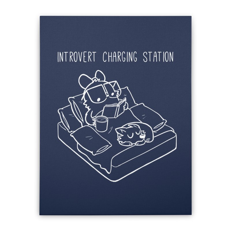 Introvert Charging Station Home Stretched Canvas by SLOTHILDA
