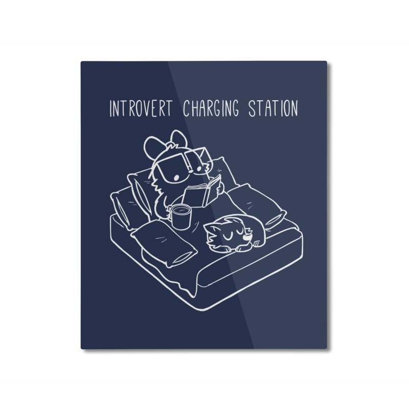Introvert Charging Station Home Mounted Aluminum Print by SLOTHILDA