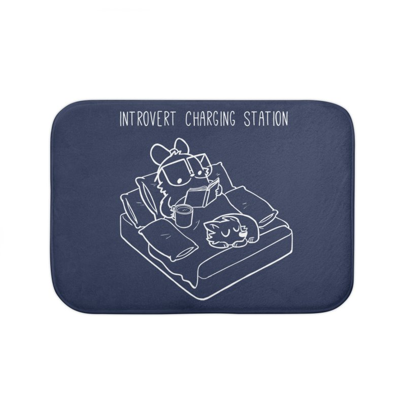 Introvert Charging Station Home Bath Mat by SLOTHILDA