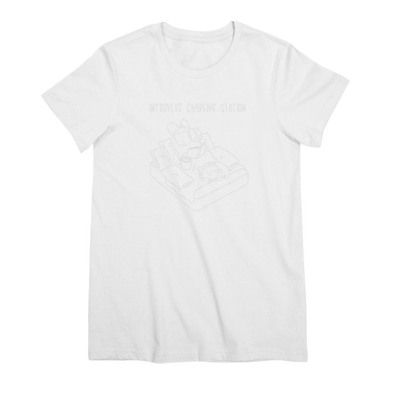Introvert Charging Station Women's Premium T-Shirt by SLOTHILDA